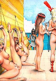 Whip these two lazy filly sluts until they learn to behave - Slaves of Troy by Tim Richards