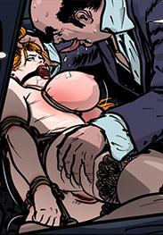 Predondo fansadox 524 Gentlemen's club 4 - Beautiful, redheaded Beatrice is broken by big, fat bastard and his big dicked robot