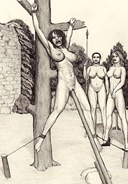 Crucifixion - Keep on whipping her tits all day by Badia