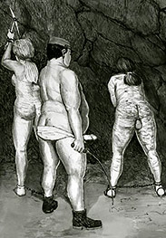 Shake those fat udders, slave - Prison camp by Badia