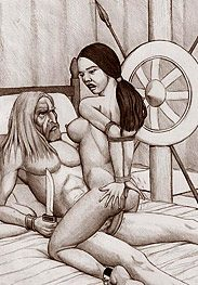 Barbarian slave - Now whip her tits hard by Badia