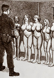 Lick me clean, whore - Naked insurgents by Badia