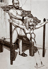 The pain of the razor wire was enormous - BDSM pics by Badia
