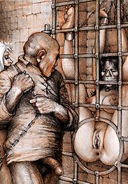 Look at those cunts on the wall - Sex captives of terror prison by Tim Richards