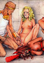 The cruel Roman grinned as he grabbed his dick - Slaves of Troy by Tim Richards
