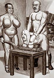 Donald pushed onto Anya's back - Breast pics by Badia